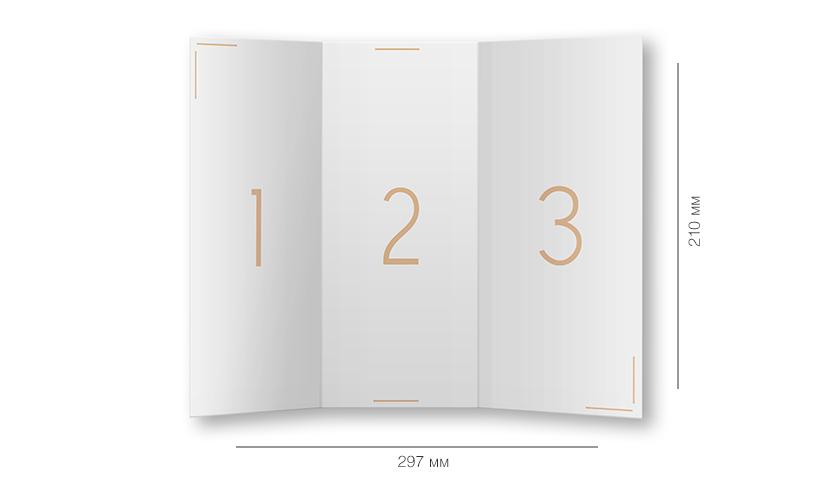 Дизайн евробуклета размеры